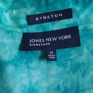 Jones New York Tops - Tie-Dyed Collared Blouse